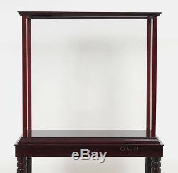 Display Case Cabinet Legs Wood & Plexiglas 27 for Tall Ship, Yacht, Boat Models