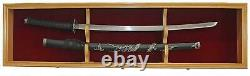 Display Case Cabinet Stand Holder Wall Rack Shadow Box SWORD NOT INCLUDED