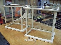 Display Case/Curio/Doll Wood&Glass Unfinished