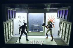 Display Case Martial Arts Dojo Diorama, 112 scale for 6-8 inch Action Figures