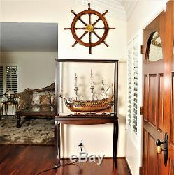 Display Case Wood Cabinet Acrylic Glass 40.5 For Ships And Boats Models