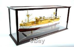 Display Case for Container Ship, Battleship, Tanker Wooden Ship Model 40