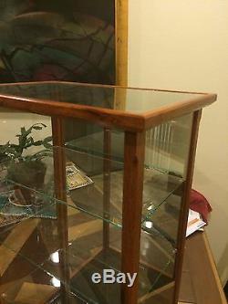 Display Model/Curio Wood & Glass Asian Merbau