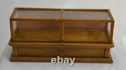 Dollhouse Miniature Artisan Store Cabinet Display Case Wood Doors Antique Oak