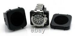 Double Watch Winder Automatic Rotation Storage Display Organizer Box Case Black