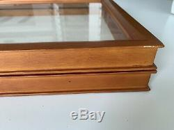 EXPOSURES Large Shadow Box Display Case Wood Frame Wall Mount Hinged