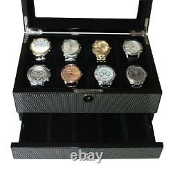 Elegant Watch Jewelry Display Storage Holder Case Glass Box Organizer Gift n