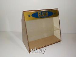 Elgin Clocks Store Display Antique Vintage Collectible Rare Wood Cabinet