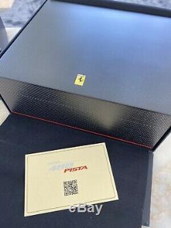FERRARI Carbon Fiber/Wood Cigar Humidor, 1/43 Scale Model Display Case RARE