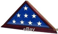 Flag Display Case Military Box Burial Shadow American Memorial Funeral Shelf, New