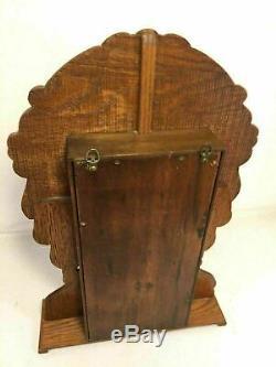 Gingerbread Clock Case Knick Knack Shelf Antique Mantle Desk Display Made In USA