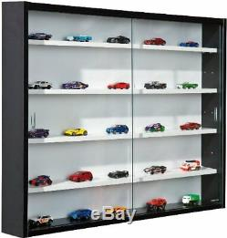 Glass Display Cabinet Case Shelf Storage Collectors Furniture Room Wall Decor UK
