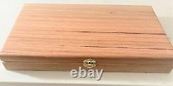 Gold Nuggets & Gem Stone Display Case Tas/Oak fitted with 50 gem jars