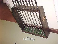 Golf Club Display Rack Case Wood Wall / Floor for 9 Rare Scotty Cameron Putters