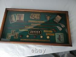 Golf History Shadow Box Display Case, Wood Framed Wall Hanging, Bobby Jones Club
