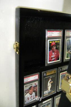 Graded baseball Card DIsplay Case PSA, Beckett 30 Deep