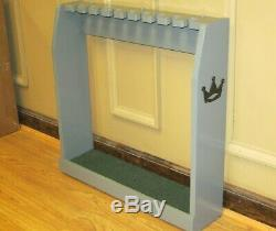 Gray Golf Club Display Rack Case Wood Wall / Floor for 9 Scotty Cameron Putters