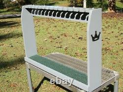 Gray Solid Wood Golf Club Floor Display Rack Case for 14 Scotty Cameron Putters