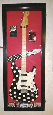 Guitar Display Case Wood Electric Guitar Case for Regular/Electric Guitars RF