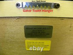 Guitar Display case/ Solid hardwood Strat/gibson Black with red felt Back ground