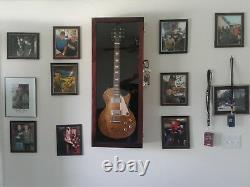 Guitar Display case/ Solid hardwood Strat/gibson Cherry / NF