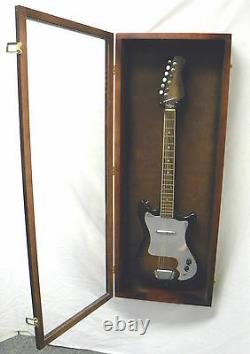 Guitar Display case/ Solid hardwood Strat/gibson Guitar WoodCase CHERRY / NF