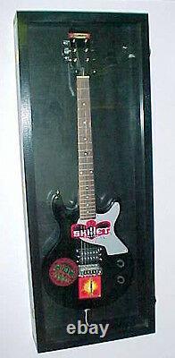 Guitar Display case / Solid hardwood Strat /gibson electric guitar Wood Case/ RF