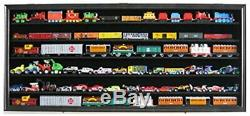 HO / RR Scale Model Train Hot wheels Display Case Cabinet Shadow Box- HW05-BL