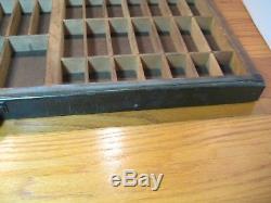 Hamilton Printers Drawer Organizer Antique Vtg Type Case Tray Shadow Box Display