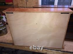 Hand Crafted Oak Display Case 1/64 Scale Die Cast NASCAR HO Train Min Hot Wheels