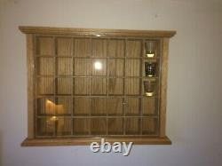 Hand Crafted Oak Display Case Shot Glass Holds 35 Wee Mini collectables