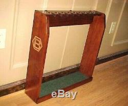 Hand Made Wood Golf Club Display Case Wall / Floor Rack for 9 Bettinardi Putters