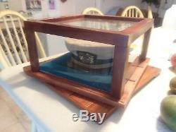 Hand crafted Custom made clear display case+lazy susan base 4 any memoribila