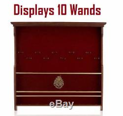 Harry Potter 10 Wand Wood Wall Display Case Wooden Showcase Collector's Storage