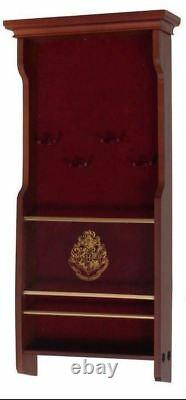 Harry Potter Official Licensed Hogwarts Collectors 4 Wand Wood Wall Display Case