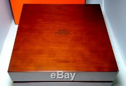 Hermes EX-Large & Heavy Wood & Suede Watch Jewelry Display Case EXTREMELY RARE