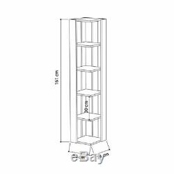 Hokku Corner Bookcase Display Shelf Shelves Rack Library Storage Organiser UK