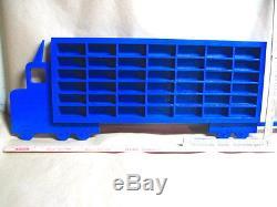 Hot Wheels Matchbox Wood Truck Boys Bedroom Display Case Toy Storage Shelf