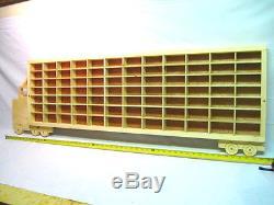 Hot Wheels Matchbox Wood Truck Boys Bedroom Display Case Toy Storage Shelf Decor