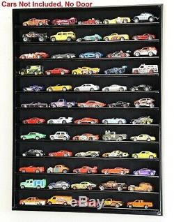 Hotwheels Wood Display Case Matchbox 1/64 Scale Holds 60 Diecast Cars 12 Shelf