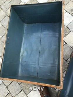 Huge Very Large Vintage Treasure Chest Steamer Trunk Case Shop Display Window