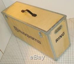 Husqvarna Ring Saw Tool Wood Storage Display Case Box Trunk