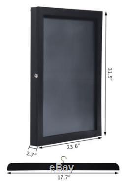 Jersey Frame Display Case Football Baseball Memorabilia Shadow Box Black 32x24