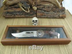 Kershaw Knives USA Collectable RARE Beautiful Rams Head Knife & Display Case