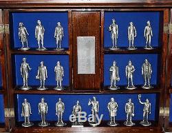 LANCE Fine Pewter American President Collection Original Wood Display Case