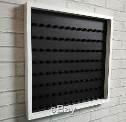 LEGO Minifigure Display Frame Case Large Fits 104 Minifigs White (Black)