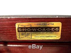 LOT OF 2 SHOWCASES TO GO WOOD TRAVEL JEWELRY DISPLAY TRADE SHOW CASES WithINSERTS