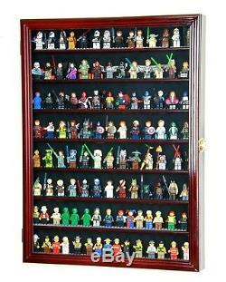 Large 110+ Lego Men Miniatures / Legos / Minifigures /Display Case Cabinet Box