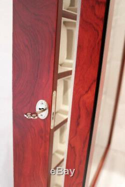 Large 20 Wrist Watch Storage Cabinet Chest Box Display Wood Case Matt