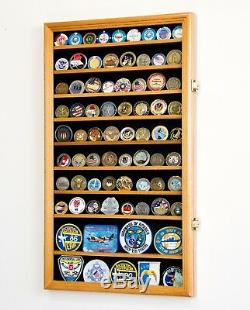 Large Challenge Coin Display Case Box Holder Military Coins 98% UV Adjustable